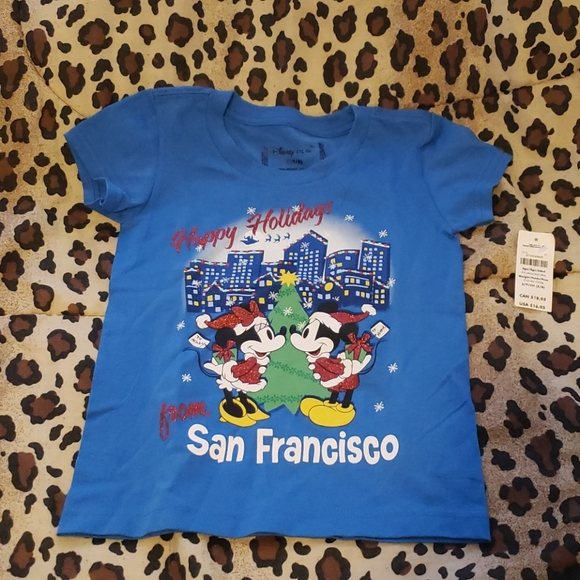 Nwt Disney kids sm San Francisco holiday shirt